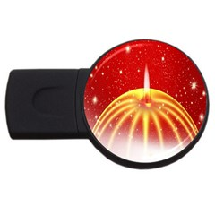 Advent Candle Star Christmas USB Flash Drive Round (1 GB)