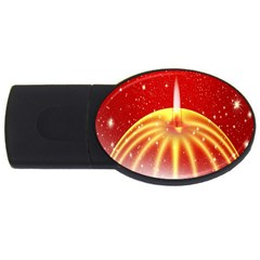 Advent Candle Star Christmas Usb Flash Drive Oval (4 Gb)