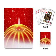 Advent Candle Star Christmas Playing Card