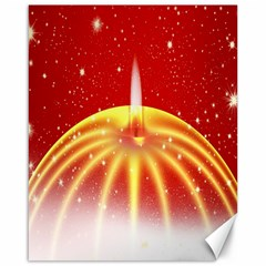 Advent Candle Star Christmas Canvas 16  X 20