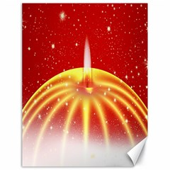 Advent Candle Star Christmas Canvas 18  x 24