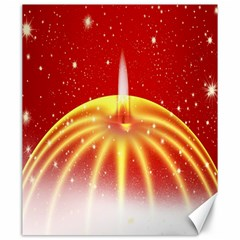 Advent Candle Star Christmas Canvas 20  x 24