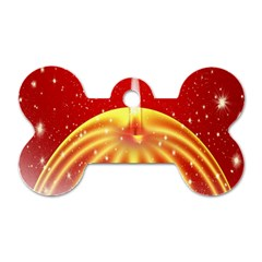 Advent Candle Star Christmas Dog Tag Bone (Two Sides)