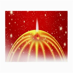 Advent Candle Star Christmas Small Glasses Cloth (2-Side)