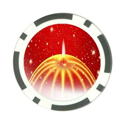 Advent Candle Star Christmas Poker Chip Card Guard