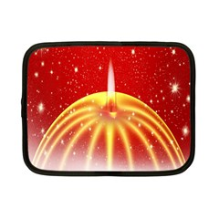 Advent Candle Star Christmas Netbook Case (Small)
