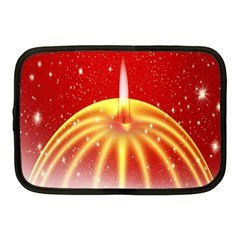 Advent Candle Star Christmas Netbook Case (Medium)