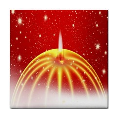 Advent Candle Star Christmas Face Towel