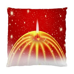 Advent Candle Star Christmas Standard Cushion Case (One Side)