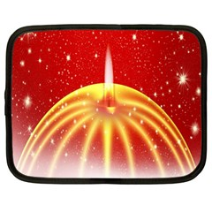 Advent Candle Star Christmas Netbook Case (XL)