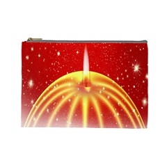 Advent Candle Star Christmas Cosmetic Bag (Large)