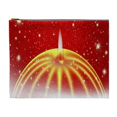 Advent Candle Star Christmas Cosmetic Bag (XL)