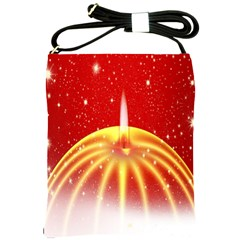 Advent Candle Star Christmas Shoulder Sling Bags