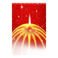 Advent Candle Star Christmas Shower Curtain 48  x 72  (Small)