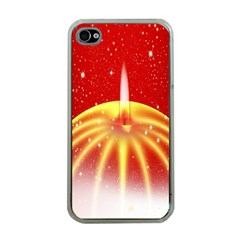 Advent Candle Star Christmas Apple Iphone 4 Case (clear)