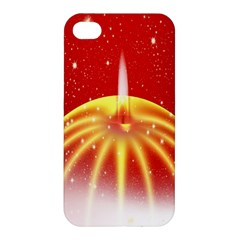 Advent Candle Star Christmas Apple iPhone 4/4S Hardshell Case