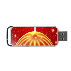 Advent Candle Star Christmas Portable Usb Flash (two Sides)