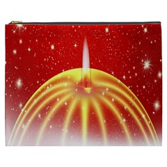 Advent Candle Star Christmas Cosmetic Bag (XXXL)