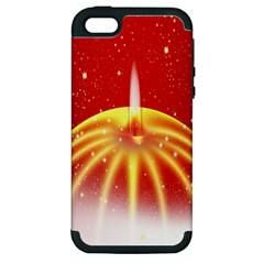 Advent Candle Star Christmas Apple iPhone 5 Hardshell Case (PC+Silicone)