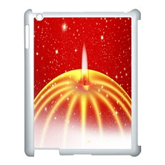 Advent Candle Star Christmas Apple iPad 3/4 Case (White)
