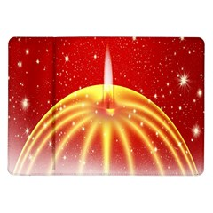 Advent Candle Star Christmas Samsung Galaxy Tab 10.1  P7500 Flip Case