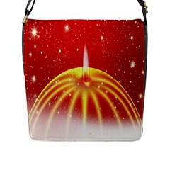 Advent Candle Star Christmas Flap Messenger Bag (L)