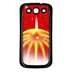 Advent Candle Star Christmas Samsung Galaxy S3 Back Case (black)