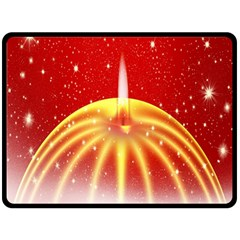 Advent Candle Star Christmas Double Sided Fleece Blanket (large)