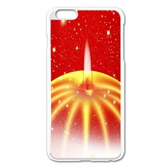 Advent Candle Star Christmas Apple Iphone 6 Plus/6s Plus Enamel White Case