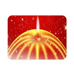 Advent Candle Star Christmas Double Sided Flano Blanket (mini)