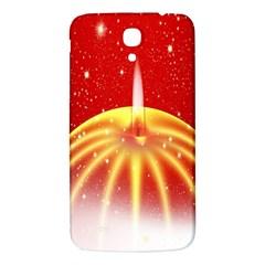 Advent Candle Star Christmas Samsung Galaxy Mega I9200 Hardshell Back Case