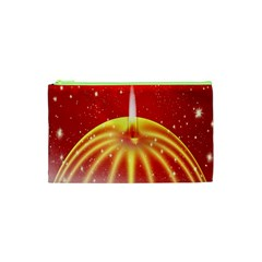 Advent Candle Star Christmas Cosmetic Bag (xs)