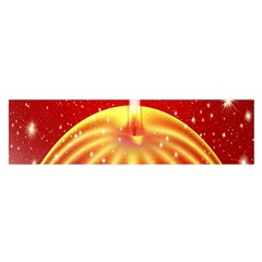 Advent Candle Star Christmas Satin Scarf (oblong)