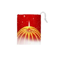 Advent Candle Star Christmas Drawstring Pouches (xs)