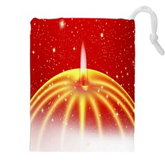 Advent Candle Star Christmas Drawstring Pouches (XXL)
