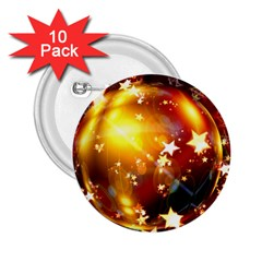 Advent Star Christmas 2.25  Buttons (10 pack)