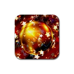 Advent Star Christmas Rubber Coaster (Square)