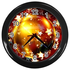 Advent Star Christmas Wall Clocks (Black)