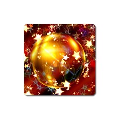 Advent Star Christmas Square Magnet