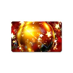Advent Star Christmas Magnet (Name Card)