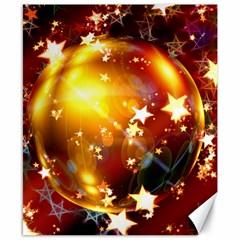 Advent Star Christmas Canvas 8  X 10