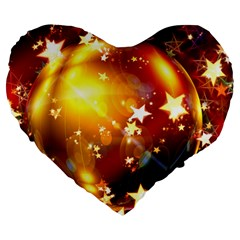 Advent Star Christmas Large 19  Premium Heart Shape Cushions