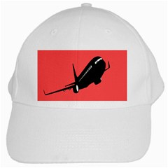 Air Plane Boeing Red Black Fly White Cap