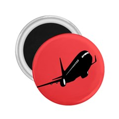 Air Plane Boeing Red Black Fly 2 25  Magnets