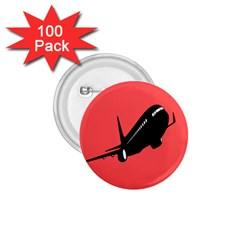 Air Plane Boeing Red Black Fly 1 75  Buttons (100 Pack)