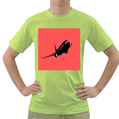 Air Plane Boeing Red Black Fly Green T Shirt