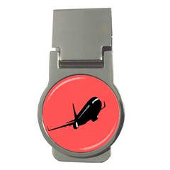 Air Plane Boeing Red Black Fly Money Clips (round)