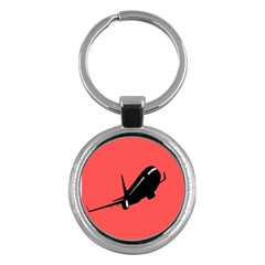 Air Plane Boeing Red Black Fly Key Chains (round)
