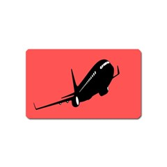 Air Plane Boeing Red Black Fly Magnet (name Card)