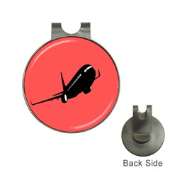 Air Plane Boeing Red Black Fly Hat Clips With Golf Markers